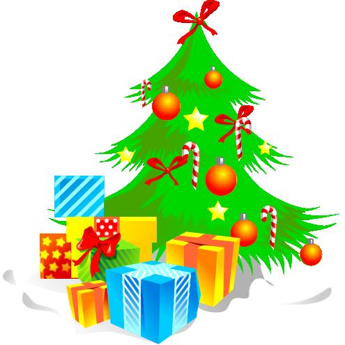 Рисунки ёлки с подарками